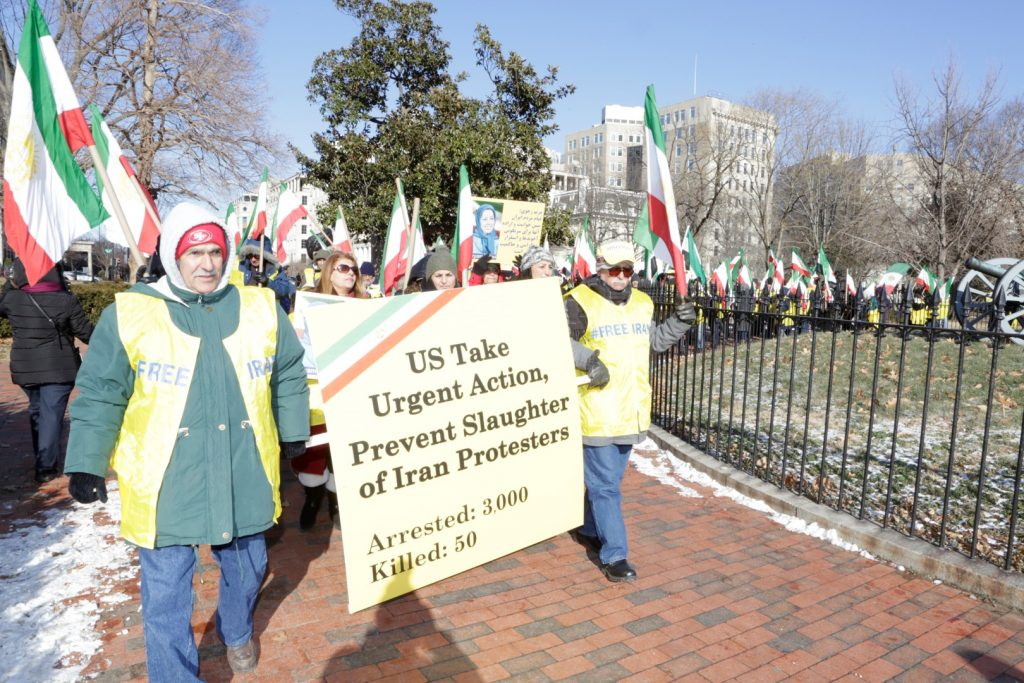 Rally in Support of Iranian People's Uprising