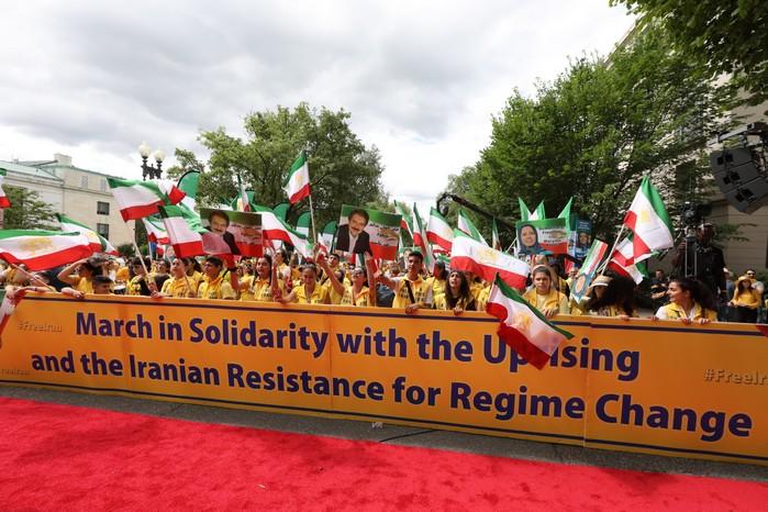 Solidarity March 2019 - Iranian American Communities Solidarity March with Iranian People for Regime Change - June 21, 2019 - Washington DC across DOS (25)