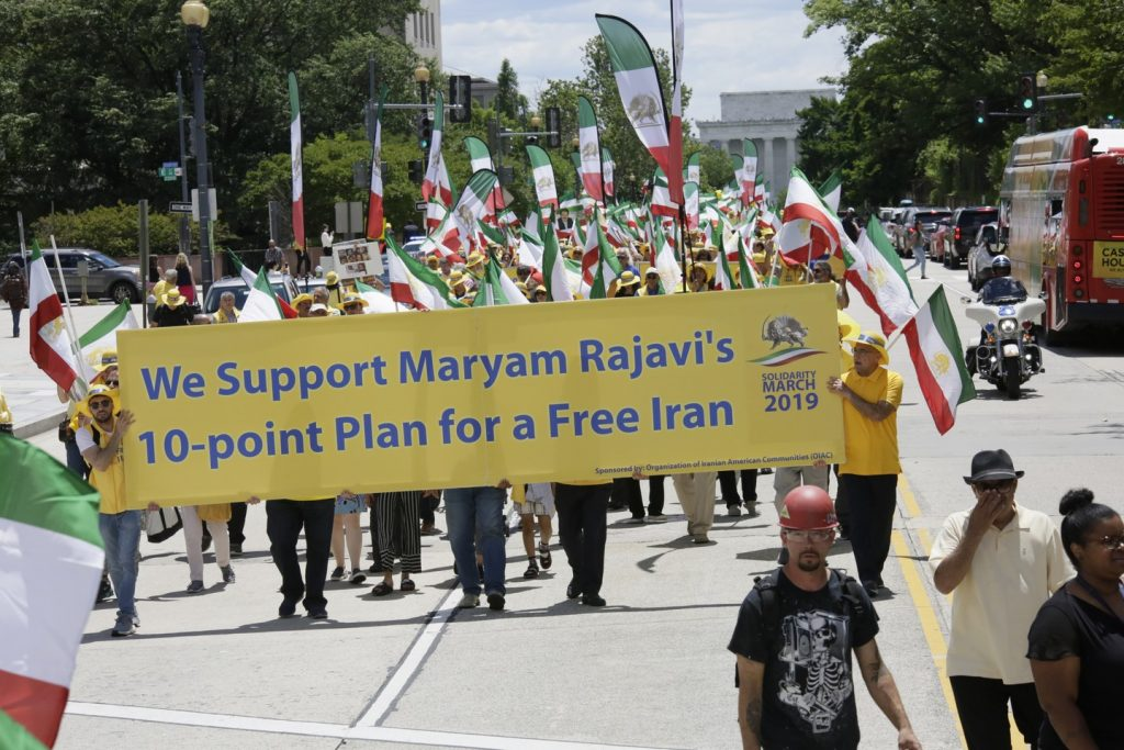 Solidarity March 2019 - Pennsylvania Ave. - Iranian American Communities Solidarity March with Iranian People - June 21, 2019 - Washington DC from DOS to the White House (41)