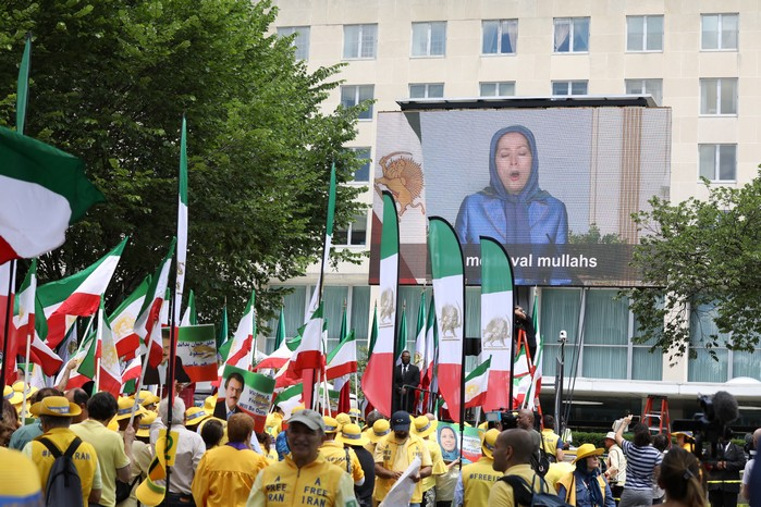 Solidarity March 2019 - President Elect Maryam Rajavi Speaking in Solidarity March with Iranian People for Regime Change - June 21, 2019 - Washington DC across DOS (28)