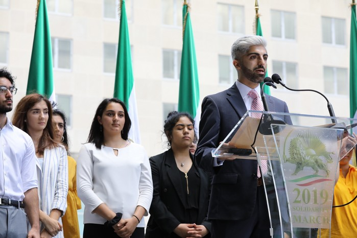Solidarity March 2019 - Youth Rep. Speaking - Iranian American Communities Solidarity March with Iranian People for Regime Change - June 21, 2019 - Washington DC across DOS (38)