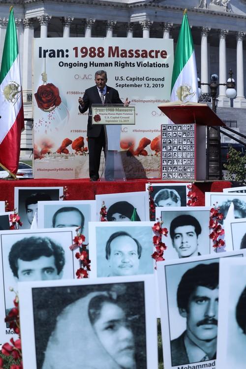 17__Congressman Juan Vargas at OIAC Iran Human Rights Exhibition, U.S. Capitol Hill, Sept 12, 2019.J