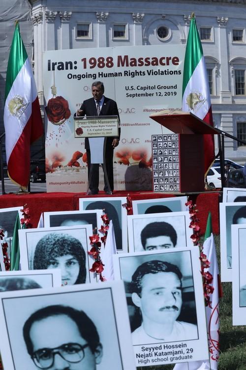 18__Congressman Juan Vargas at OIAC Iran Human Rights Exhibition, U.S. Capitol Hill, Sept 12, 2019.J