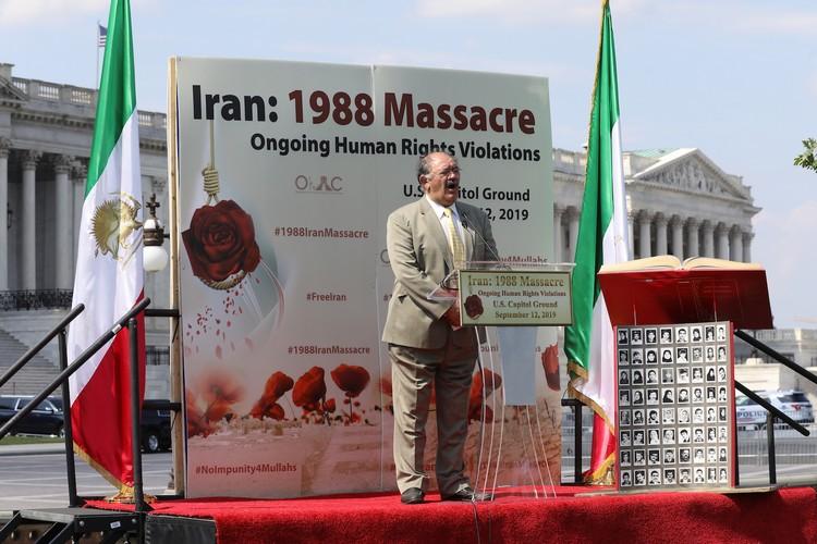 30_Mr. Moslem Eskandar-Filabi at OIAC Iran Human Rights Exhibition, U.S. Capitol Hill, Sept 12, 2019.J