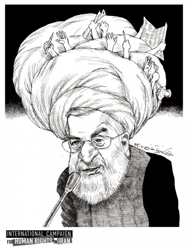 Hassan Rouhani Cartoon