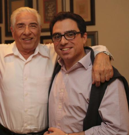 Family handout picture of Iranian-American consultant Siamak Namazi with his father Baquer Namazi