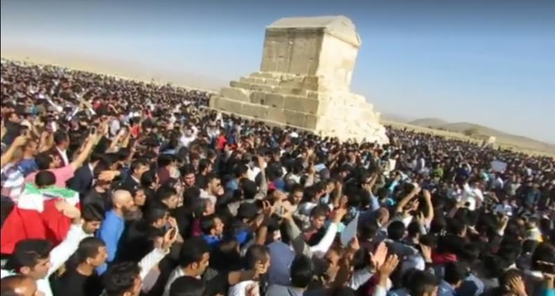 Protest by Iranians in Pasargadae