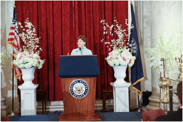 Senator Jeanne Shaheen, Member, Senate Foreign Relation Committee and Armed Services Committee at Iranian New Year (Nowruz) Luncheon in Senate Kennedy Caucus Room, organized by Organization of Iranian American Communities-US (OIAC) on March 15, 2017.
