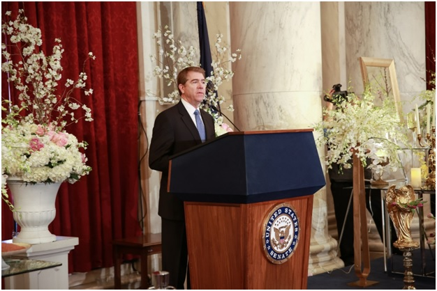 Ambassador Lincoln Bloomfield Jr., Former Assistant Secretary of State is speaking at Iranian New Year (Nowruz) Luncheon in Senate Kennedy Caucus Room, organized by Organization of Iranian American Communities-US (OIAC) on March 15, 2017.