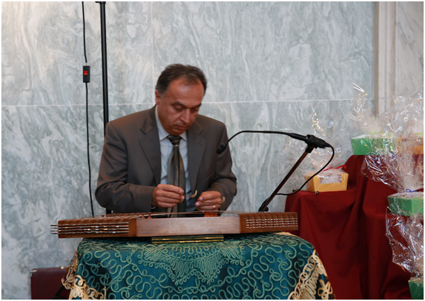 Nowruz Reception on Capitol Hill Sponsored by organization of Iranian American Communities-US (OIAC), March 9, 2017-Mr. Mr. Afshari, prominent Iranian human rights activist, plays Santour at Foyer Hall.