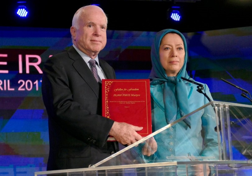 Senator McCain with Mrs. Maryam Rajavi