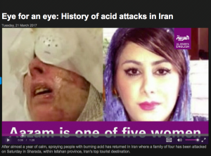 Acid Attacks in Iran