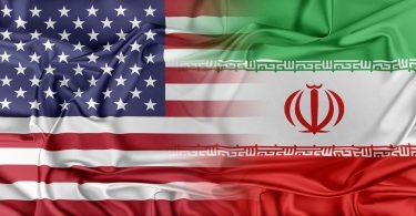 Iran USA concept