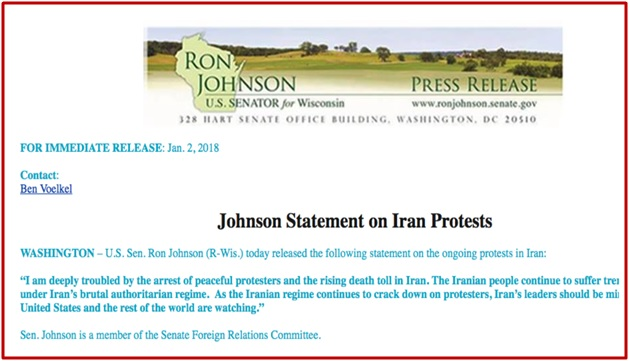 Johnson's Statement On Iran Protests