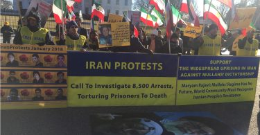 Protesters in Iran