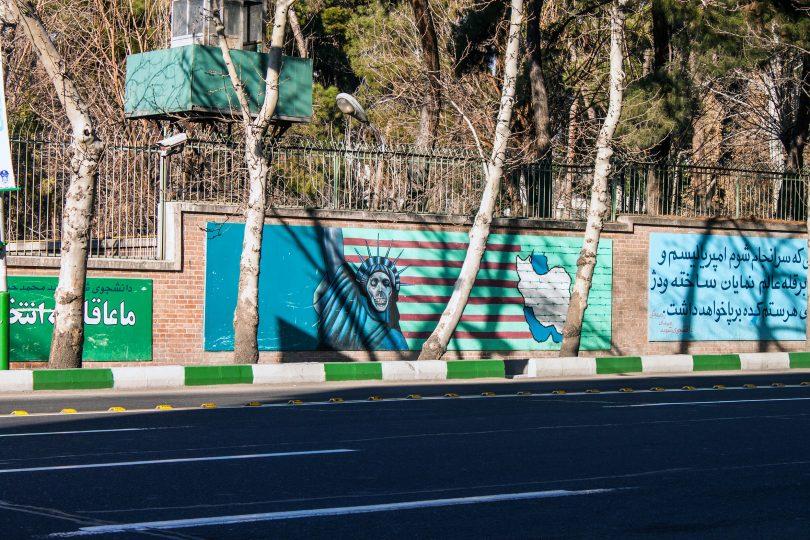 Iran us embassy mural