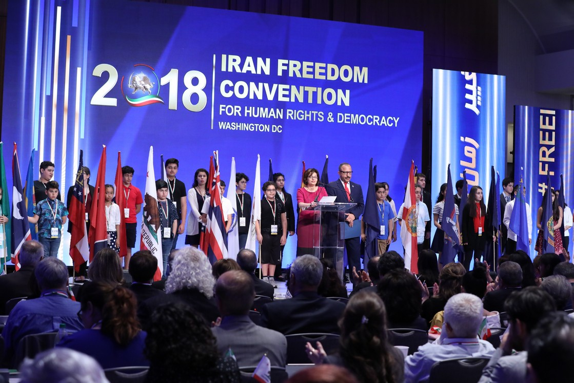 Iranian-Americans States Flags Ceremony