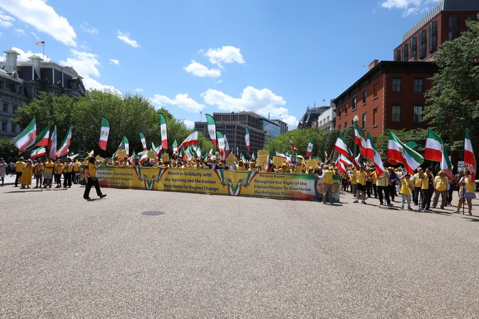Solidarity March 2019 - Iranian American Communities Solidarity March with Iranian People for Regime Change - June 21, 2019 - Washington DC across the White House (13)
