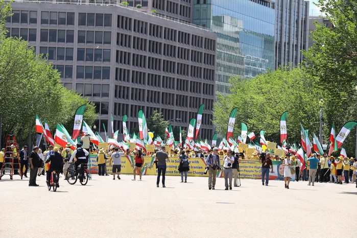 Solidarity March 2019 - Iranian American Communities Solidarity March with Iranian People for Regime Change - June 21, 2019 - Washington DC across the White House (14)