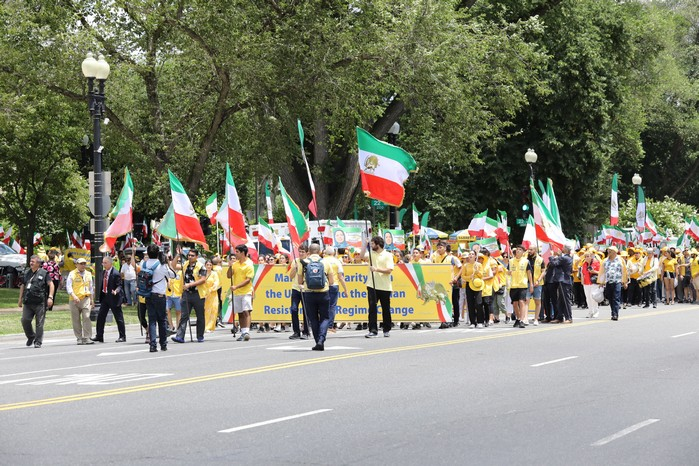 Solidarity March 2019 - Pennsylvania Ave. -Iranian American Communities Solidarity March with Iranian People - June 21, 2019 - Washington DC (3)