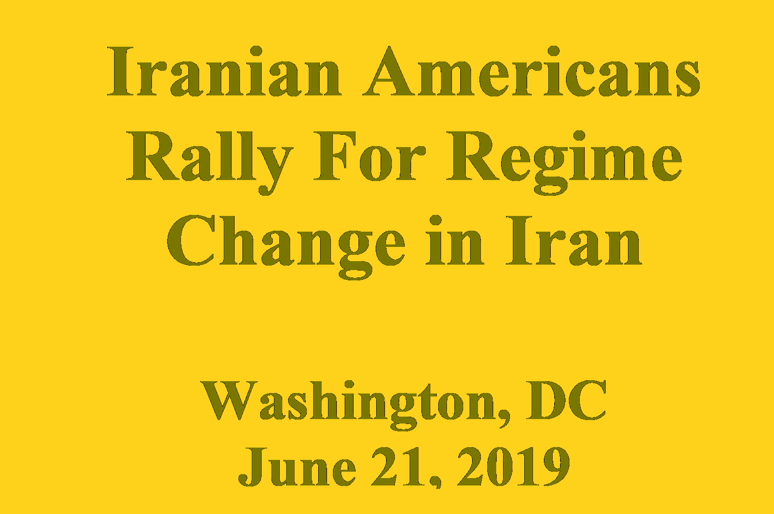 Iranian Americans Rally for Regime Change in Iran