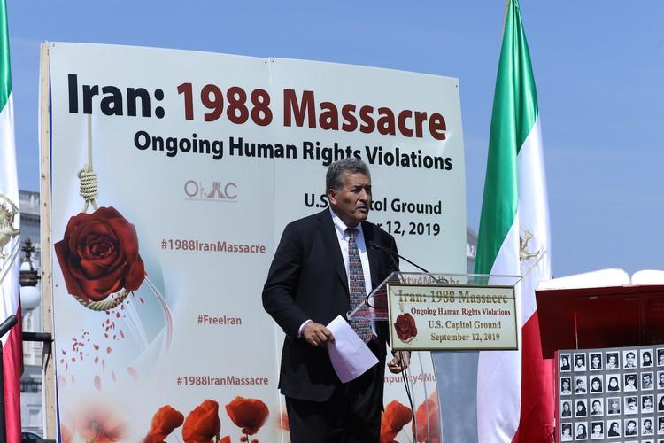 3__Congressman Juan Vargas at OIAC Iran Human Rights Exhibition, U.S. Capitol Hill, Sept 12, 2019.J