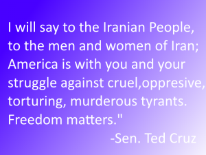Sen. Ted Cruz Speaks at the Senate Iran Briefing