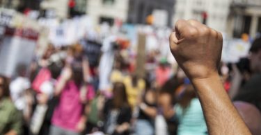 Raised Fist at Protest