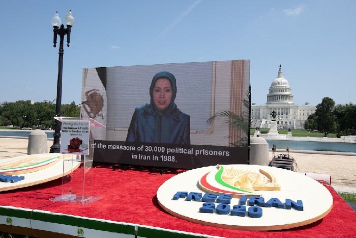 Mrs. Maryam Rajavi addresses 2020 Iran Human Rights Photo Exhibition 1